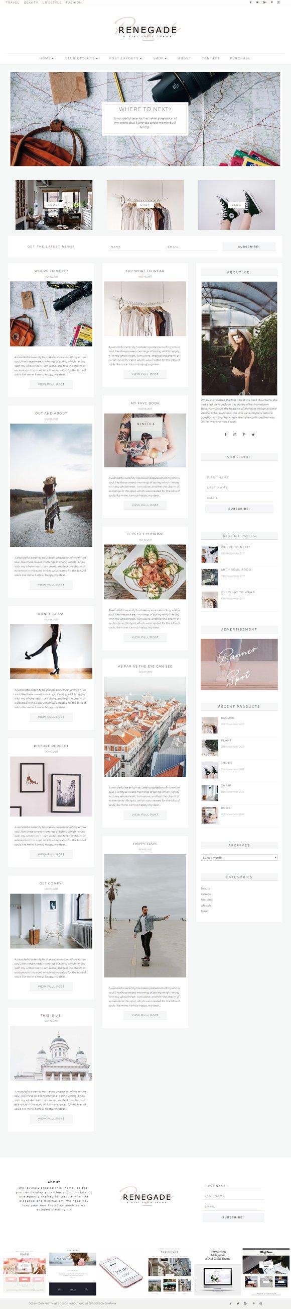 Renegade WordPress Divi Blog Theme