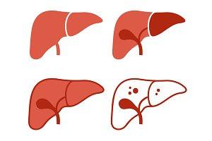 Liver Icon Set