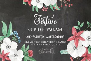 Festive Watercolor Christmas Pack