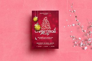merry christmas party flyer v1 flyer templates creative market