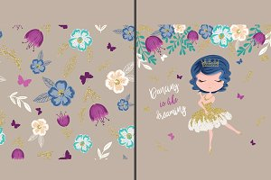 Cute Girl Print & Pattern