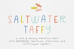 Saltwater Taffy Font