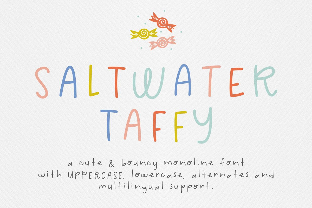 Saltwater Taffy Font