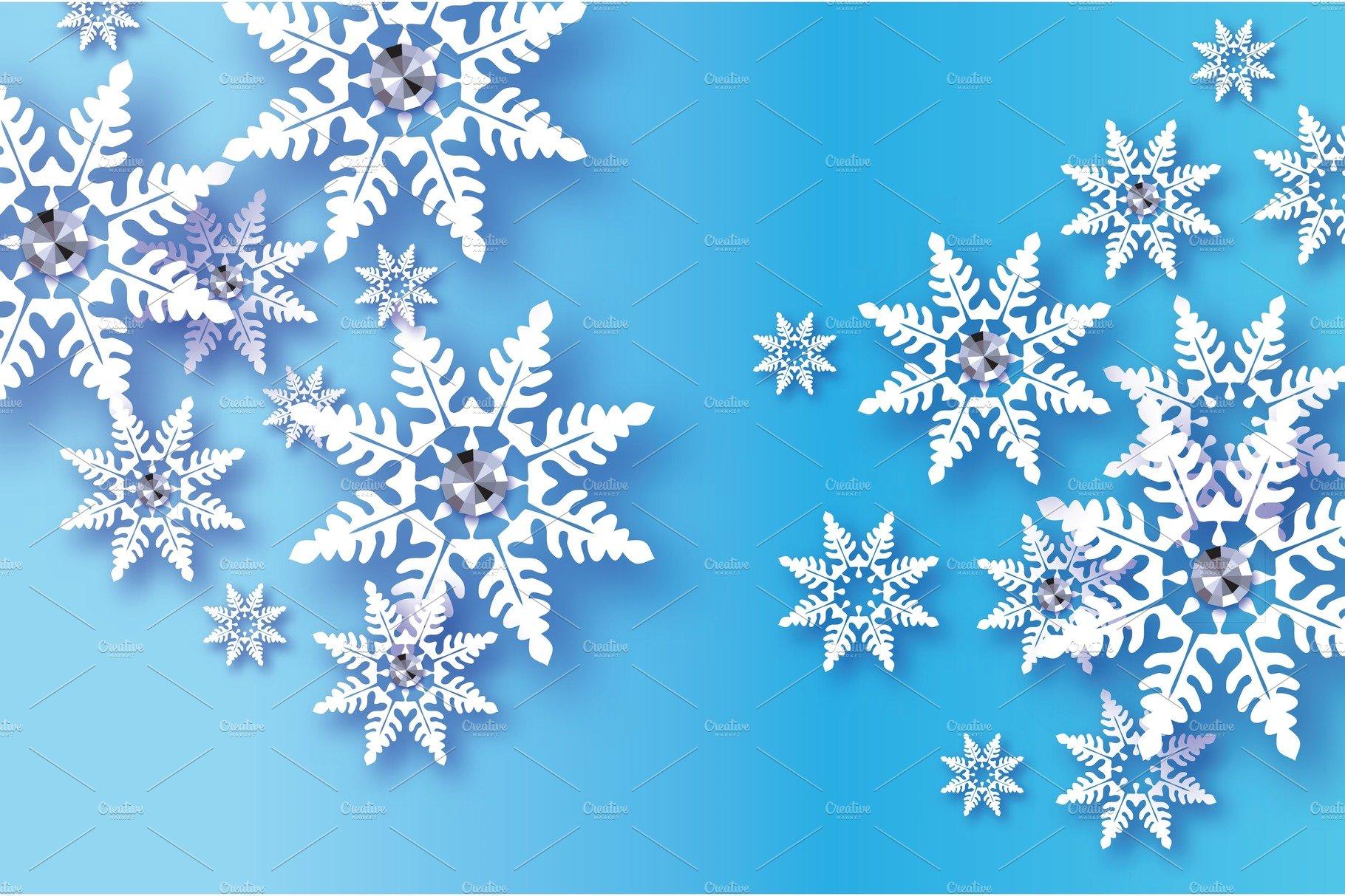 Origami Snowfall with diamond. Crystal Happy New Year ... - photo#14