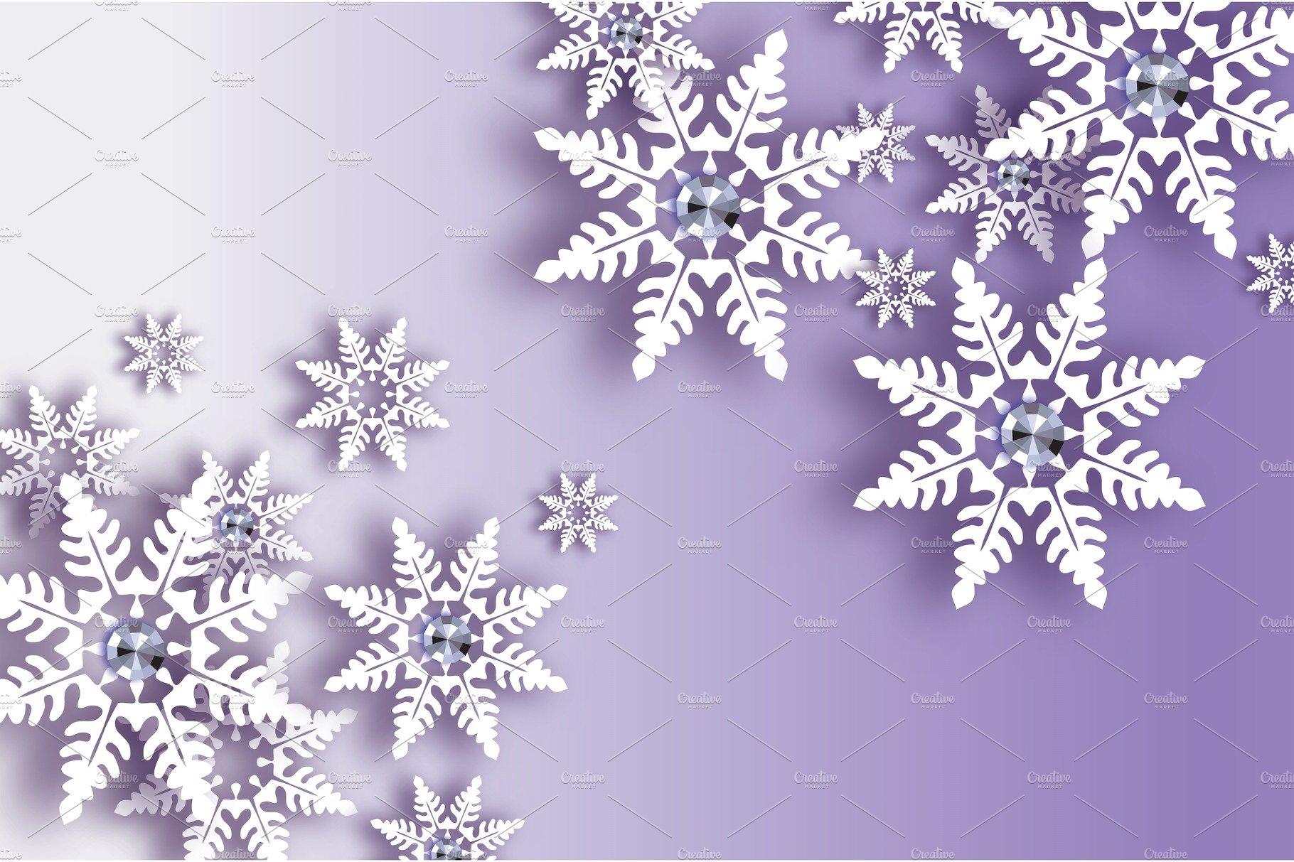 Origami Snowfall with diamond. Crystal Happy New Year ... - photo#12