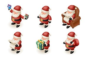 Santa Claus Isometric