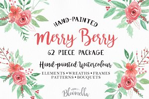 Merry Berry Watercolor Package