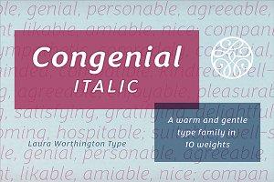 Congenial Italic Thin
