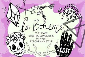 La Boheme - Bohemian Clip Arts