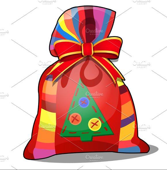 Colorful pouch with a gifts