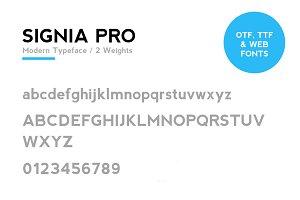 SIGNIA Pro Modern Typeface + WebFont