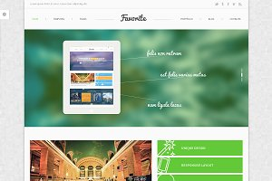 Favorite PSD Website Template