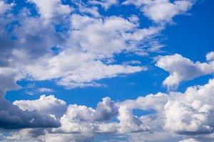 Heavenly landscape with clouds. Cumu