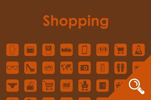 64 SHOPPING simple icons