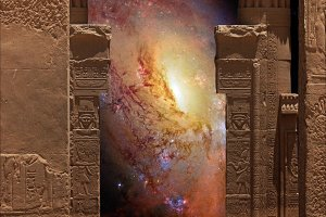 Hathor Temple and Galaxy M106
