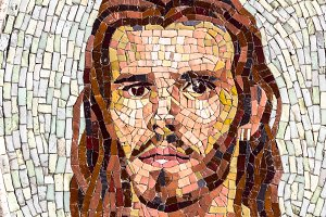 Mosaic portrait of Jesus Christ