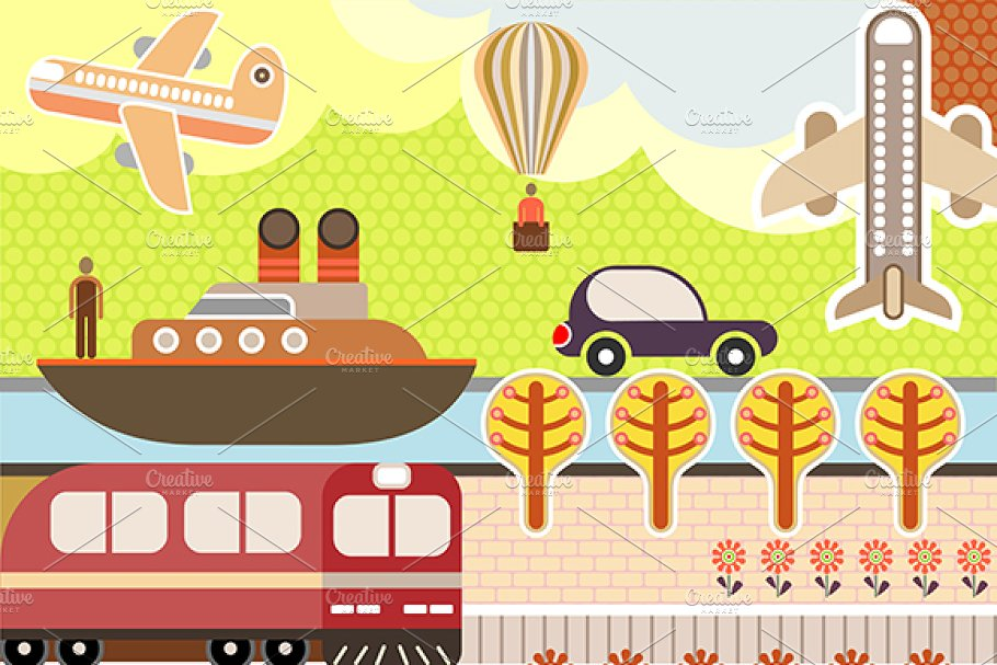Landscape vector illustration in Illustrations - product preview 8