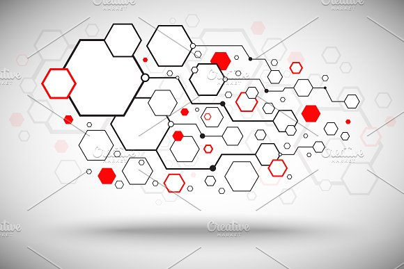 Abstract background. Set cells. in Illustrations - product preview 1