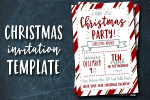 Christmas Party Invitation Template Creative Photoshop Templates