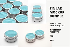 Tin Mockups Bundle ~ 30% OFF ~