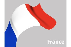 Background with France wavy flag
