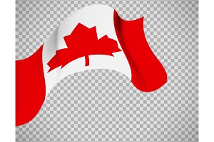 Canada flag on transparent background