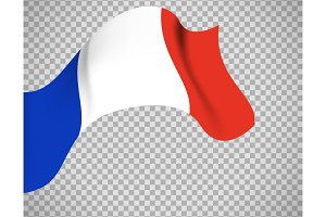 France flag on transparent background