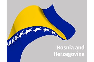 Background with Bosnia and Herzegovina flag