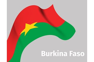 Background with Burkina Faso wavy flag