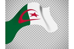 Algeria flag on transparent background