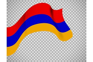 Armenia flag on transparent background
