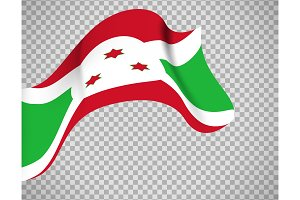 Burundi flag on transparent background