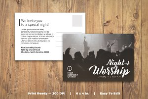 Night Of Worship Postcard