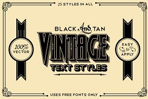 Black and Tan Vintage Styles Pack
