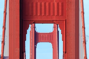 Golden Gate Bridge Closeup