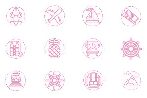 40 icon Vacation pink color