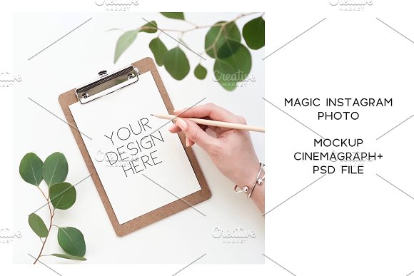 Animated Instagram photo. Mockup #17