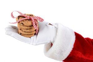 Santa Holding Cookies