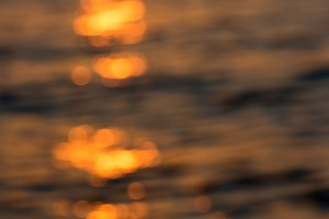 Defocused tropical sunset