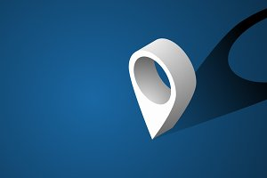 Navigation Check-in Icon Symbol