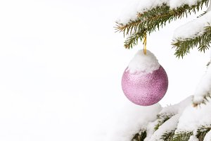 Snow Covered Christmas ornament