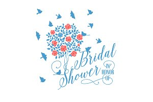 Bridal shower card.