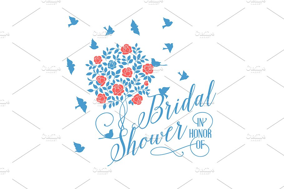 Bridal shower card. in Illustrations - product preview 8