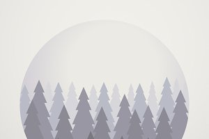 Pine Trees Park Vector