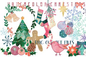 Watercolor Christmas Clip Art