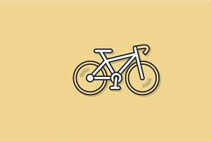 Bicycle Exercise Icon Vector