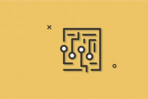 Labyrinth Maze Vector Icon