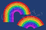 Glitter Rainbows clip art & papers