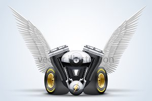 Engine, wheels and wings