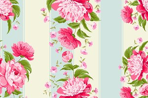 Luxurious flower wallapaper.
